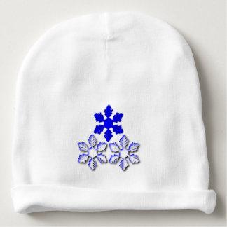 Blauer und weißer Schneeflocke-Baby-BaumwollBeanie Babymütze