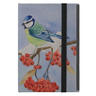 Blauer Vogel auf einem Eberesche-Baumast Hülle Fürs iPad Mini
