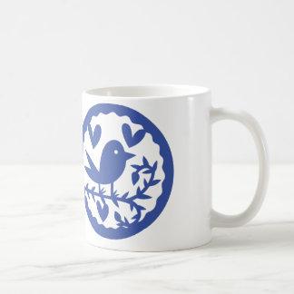 Blauer Vogel Kaffeetasse