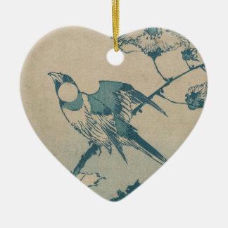 Blauer Vogel Keramik Ornament