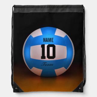 Blauer Volleyball Turnbeutel