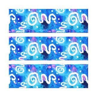 Blauer Wäsche-Weiß-Wirbel Leinwanddruck