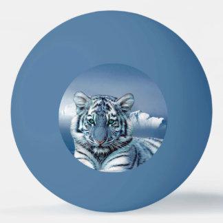 Blauer weißer Tiger Tischtennis Ball