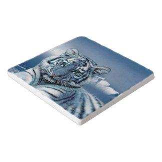 Blauer weißer Tiger Töpfeuntersetzer
