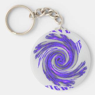 Blauer Whirl Hakuna Matata Style.png Schlüsselanhänger