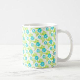 Blauer Winden-Garten Kaffeetasse