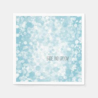 Blauer Winter Bokeh Papierservietten