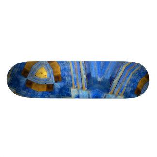 Blauer Zickzack Skateboard Individuelle Skateboarddecks