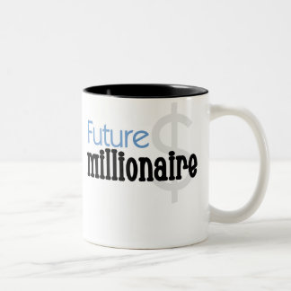 Blauer zukünftiger Millionär Zweifarbige Tasse