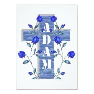 Blaues Adam laden ein 12,7 X 17,8 Cm Einladungskarte