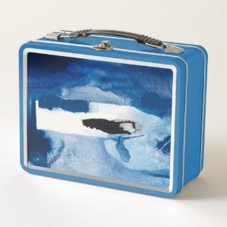 Blaues Amore II Metall Lunch Box