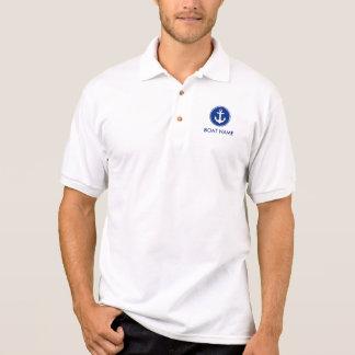 Blaues Anker-Boots-Namen-Polo-nautischShirt M Poloshirt