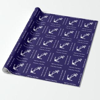 Blaues Anker-und Geschenkpapier