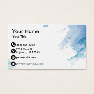 Blaues Aquarell Visitenkarten