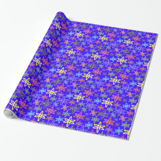 Blaues atomarPackpapier Geschenkpapier