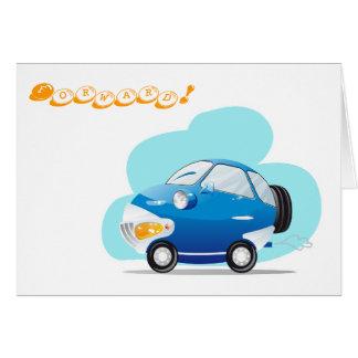 Blaues Auto Karte