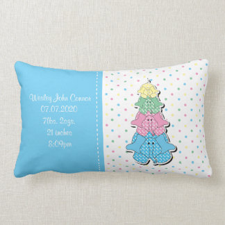 Blaues Baby-Elefant-Pastellgeburt Lendenkissen