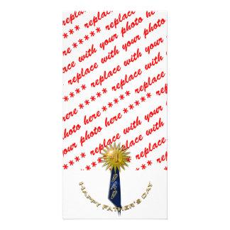 Blaues Band für Vati am Vatertag Bilderkarten