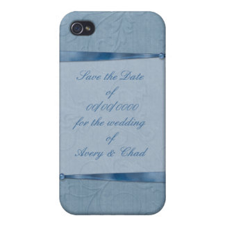 Blaues Band Save the Date Etui Fürs iPhone 4