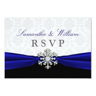 Blaues Band-Winter-Hochzeit UAWG Mitteilung 8,9 X 12,7 Cm Einladungskarte