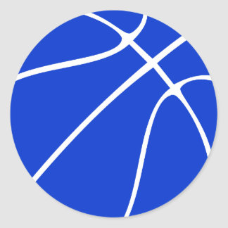 Blaues Basketball-Einklebebuch oder dekorativer Runder Aufkleber