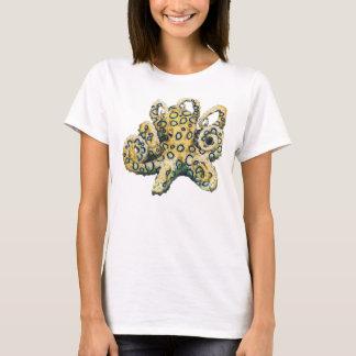 Blaues beringtes Krakent-stück für Damen T-Shirt
