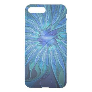Blaues Blumen-Fantasie-Muster, abstrakte iPhone 7 Plus Hülle