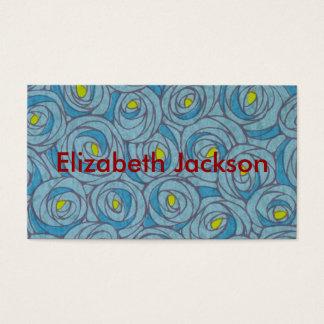 Blaues Blumen Visitenkarten