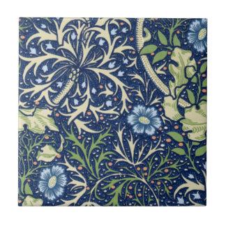 Blaues Blumenmuster Keramikkacheln