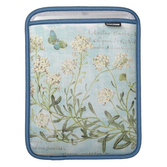 Blaues botanisches sleeve für iPads