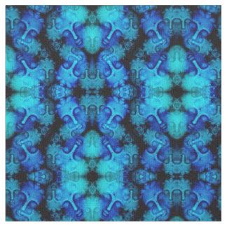 Blaues Buddha-Kaleidoskop Stoff