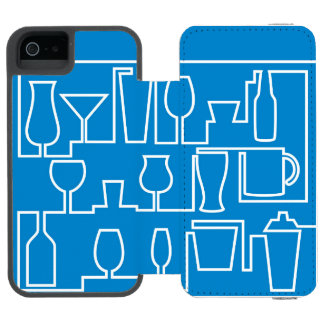 Blaues Cocktail-Party Incipio Watson™ iPhone 5 Geldbörsen Hülle