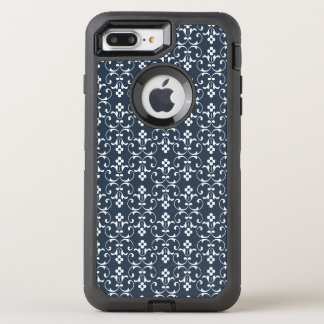 Blaues dekoratives Muster OtterBox Defender iPhone 7 Plus Hülle