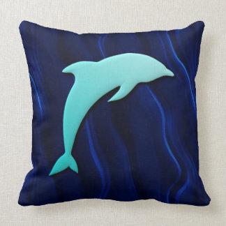 blaues Delphin-tiefes Wasser-Seeblau des Effekt-3D Zierkissen