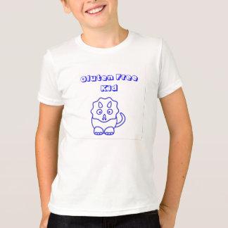Blaues Dino-Gluten-freies KinderShirt T-Shirt