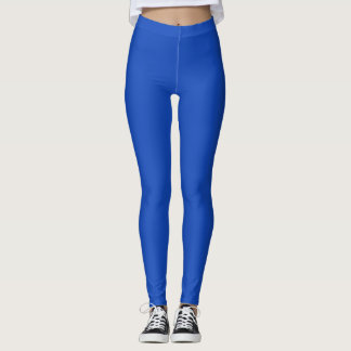 Blaues einfarbiges leggings