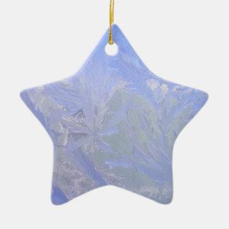 Blaues Eis Keramik Stern-Ornament