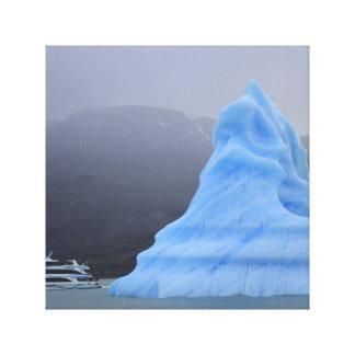 blaues Eis Leinwanddrucke