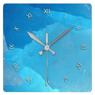 Blaues Eis Uhren