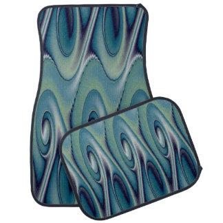 Blaues Element-Entwurfs-Set von 4 Auto-Matten Autofußmatte