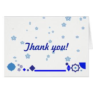 Blaues etwas danken Ihnen zu kardieren Karte