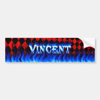 Blaues Feuer Vincents und Autoaufkleber