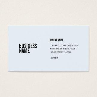Blaues Format Alices mit Spalten kondensierte Visitenkarte