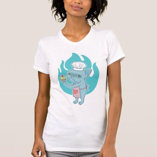 Blaues Frenchie und sein magischer Liebekleiner T-Shirt