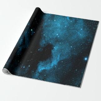 Blaues Galaxie-Packpapier Geschenkpapier