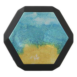 Blaues/gelbes Aquarell Schwarze Bluetooth Lautsprecher