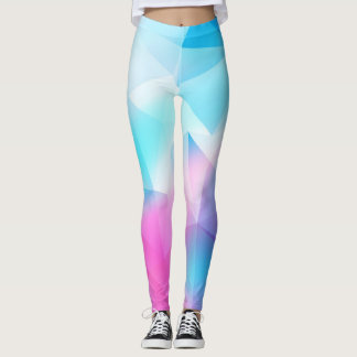 Blaues geometrisches leggings