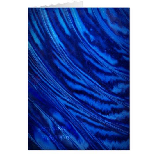 Blaues Glas: Leere Karte