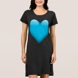 Blaues Glasherz kundengerecht Kleid