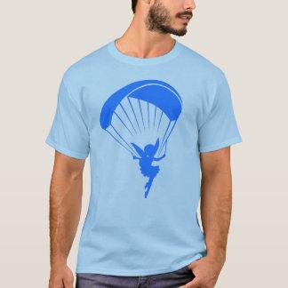 Blaues Gleitschirmfliegen-Elf-T-Shirt T-Shirt